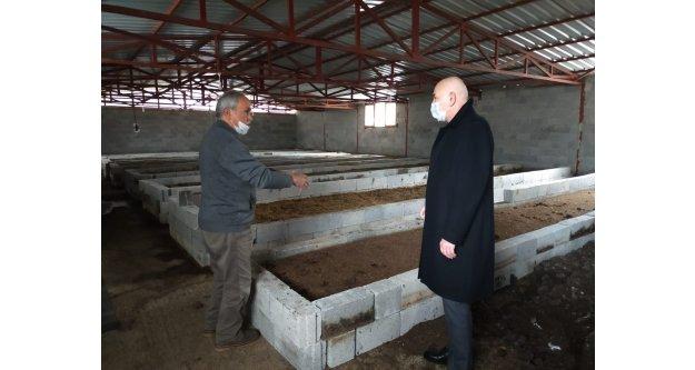 120 bin solucanla kurduğu tesisinde, bugün 15 milyon solucandan bir buçuk ton organik gübre üretiyor.