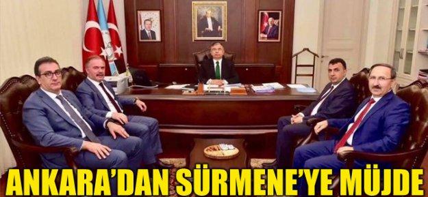 Ankara'dan Sürmene'ye Müjde