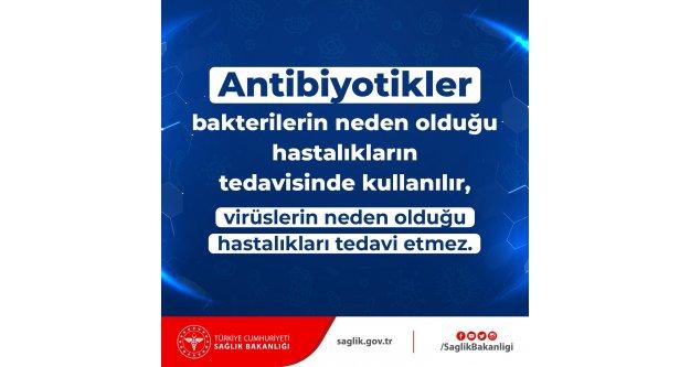 Antibiyotikler; bakterilerin neden olduğu hastalıkların tedavisinde kullanılır
