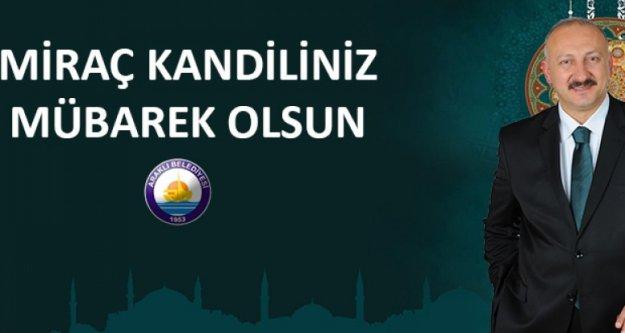 Araklı Belediye Başkanı Recep Çebi'den kandil mesajı
