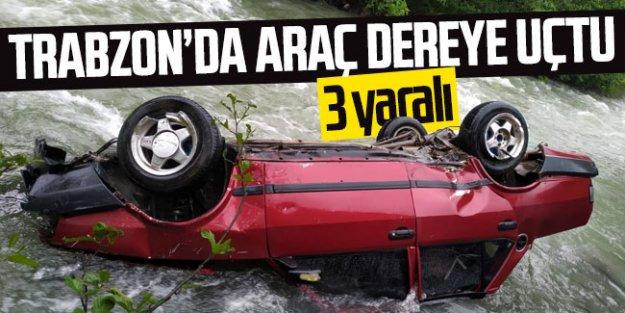 Araklı#039;da kaza 3 yaralı