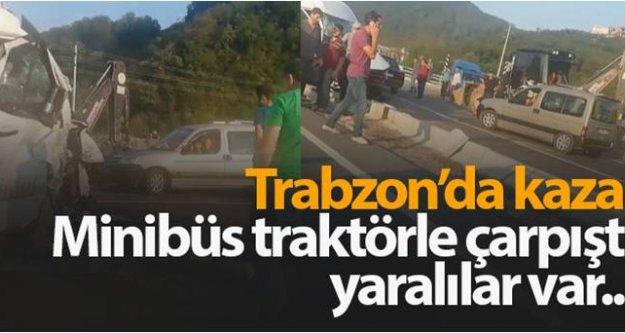 Araklı'da kaza: 8 yaralı