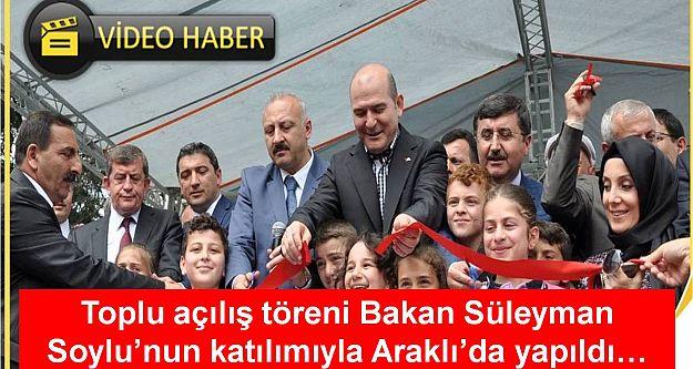 ARAKLI#039;DA TOPLU AÇILIŞ TÖRENİ YAPILDI...