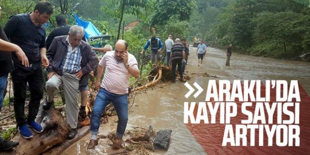 Araklı'da yaşanan sel sonrası kayıp sayısı artıyor...