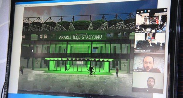 Araklı stadyumunun yapımına önümüzdeki günlerde başlanıyor.