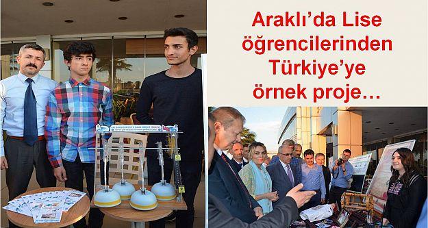 Araklı'da lise öğrencilerinden Türkiye'ye örnek proje…