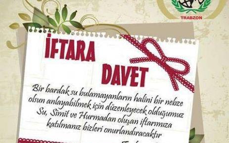 ARAKLI'DA SU SİMİT ve HURMA İFTARINA DAVET