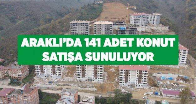 Araklı'da TOKİ tarafından 141 adet konut satışa çıkarıldı