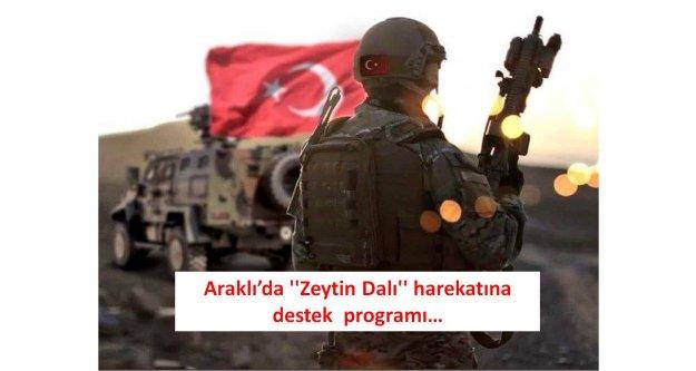 Araklı'da ''Zeytin Dalı'' harekatına destek programı…