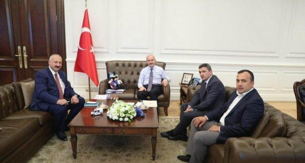 Başkan Çebi İçişleri Bakanı ile Görüştü