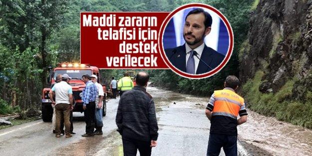 Berat Albayrak; 'Maddi zararın telafisi için destek verilecek'