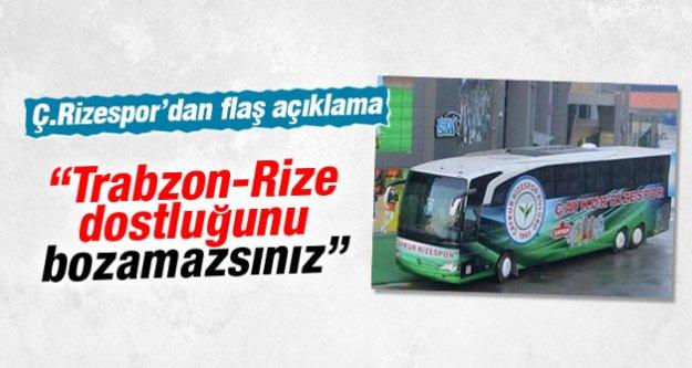 Çaykur Rizespor'dan saldırı açıklaması