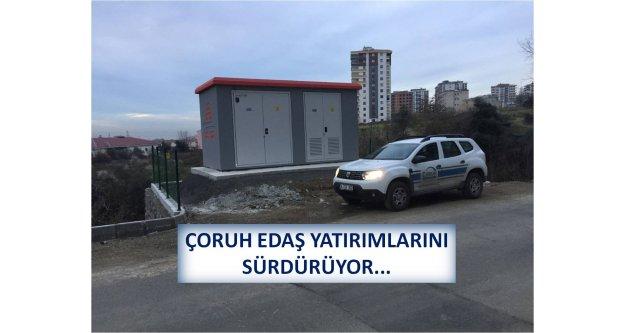 ÇORUH EDAŞ YATIRIMLARINI SÜRDÜRÜYOR...