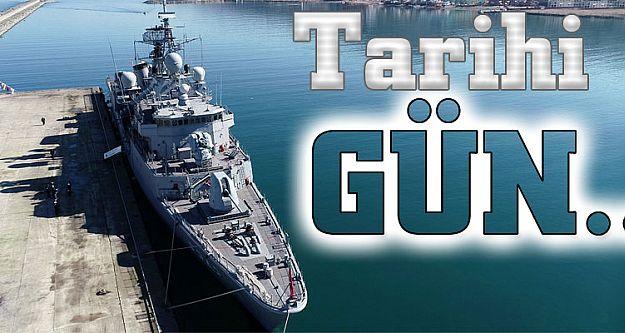 Deniz Kuvvetleri Komutanlığının Fatih Fırkateyni Sürmene'de