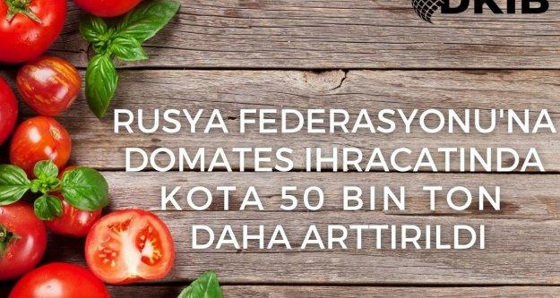 Domates İhracatımızda Kota 250 Bin Tona Çıkarıldı