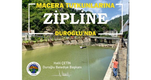 Duroğlu#039;nda Zipline ve Deniz Bisikleti halkın hizmetinde...
