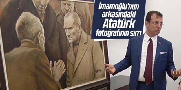 Ekrem İmamoğlu'nun arkasındaki Atatürk fotoğrafının sırrı