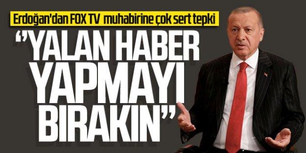 Erdoğan#039;dan FOX TV muhabirine sert tepki