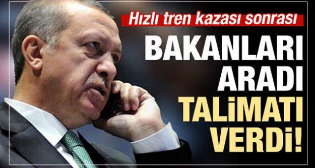 Erdoğan#039;dan YHT kazası sonrası talimat!