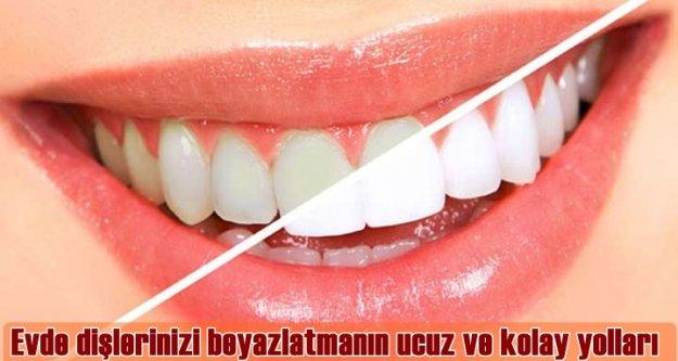 Evde dişlerinizi beyazlatmanın ucuz ve kolay yolları