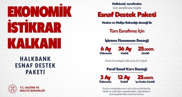 Halkbank aracılığı ile Esnaf Destek Paketi...
