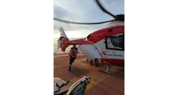 Hava Ambulansları 6 günde 6 saat 47 dakika uçuş yaptı