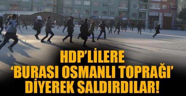 HDP'lilere taşlı saldırı