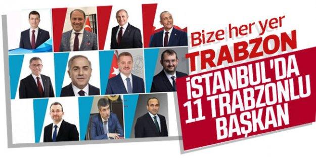 İstanbul'u Trabzonlu başkanlar yönetiyor!