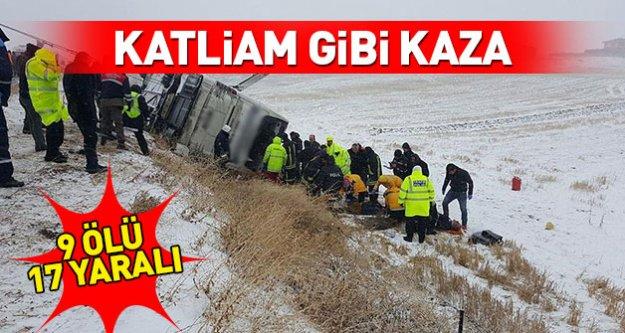 korkunç kaza: 9 ölü, 17 yaralı