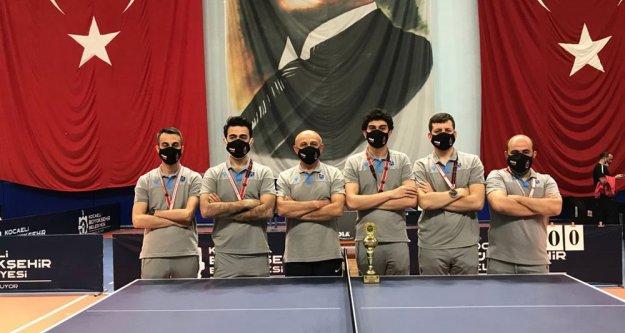Masa tenisi takımımız 1. Lig'e yükseldi
