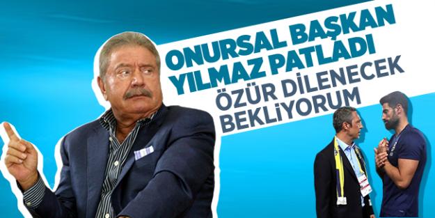 Mehmet Ali Yılmaz; 'Özür dilenecek, Ali Koç'tan açıklama bekliyorum'