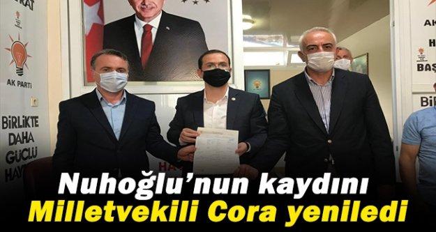 Mehmet Nuhoğlu'nun üye kaydını AK Parti Trabzon Milletvekili Salih Cora yeniledi
