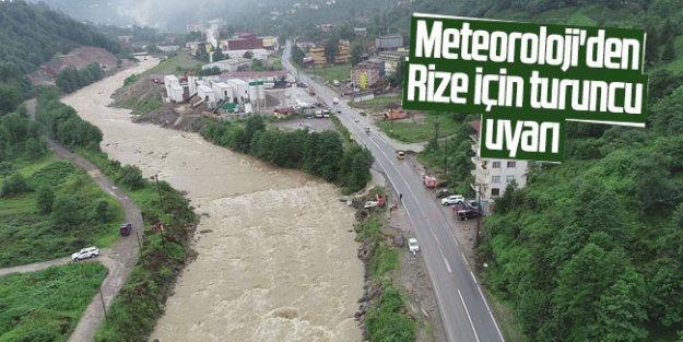 Meteoroloji'den Rize için turuncu uyarı