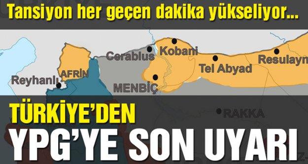 Mevlüt Çavuşoğlu: quot;YPGnin Fıratın doğusuna geçmesi gerekiyor aksi taktirde hedef olacaktırquot; dedi.