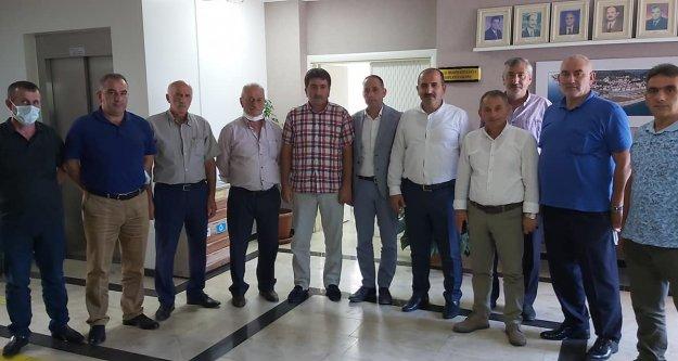 Muhtarlar Derneği'nden Arsin Belediyesine ziyaret