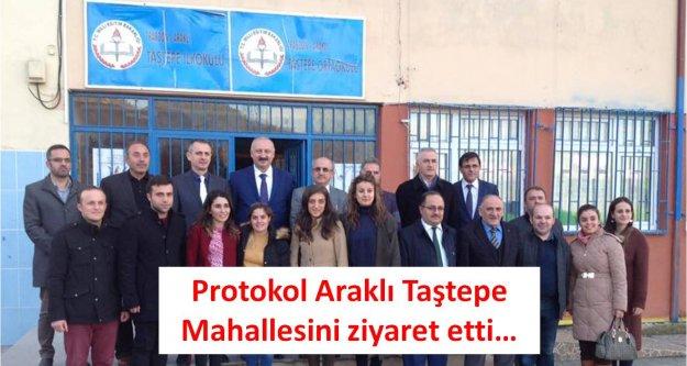 Protokol Araklı Taştepe Mahallesini ziyaret etti...