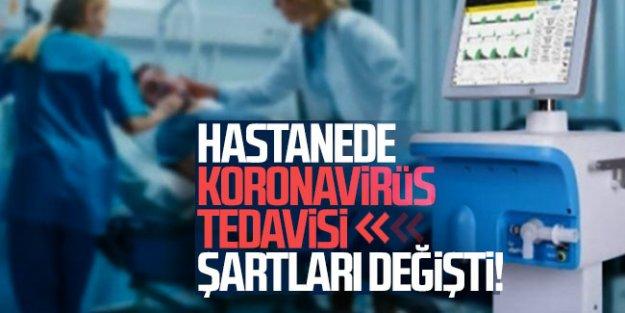 Sağlık Bakanlığı açıkladı! Hastanede koronavirüs tedavisi şartları değişti
