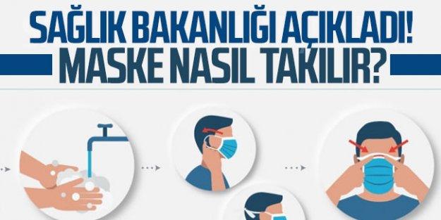 Sağlık Bakanlığı açıkladı: Maske nasıl takılır?