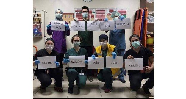 Sağlık çalışanlarımızdan mesaj var...