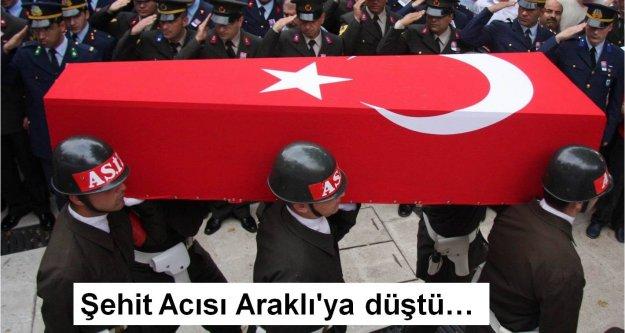 Şehit Acısı Araklı#039;ya düştü…