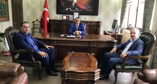 Sürmene Kaymakamı Ahmet Gazi KAYA'ya hayırlı olsun ziyareti...