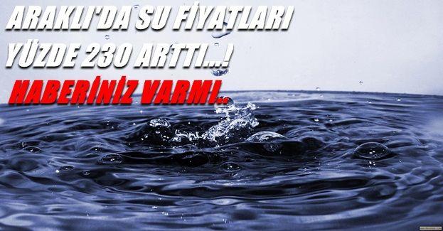 Su'ya İnanılmaz Zam