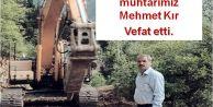 Araklı Çamlıktepe Mahallesi muhtarımız Mehmet Kır Vefat etti.