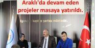 Araklı'da devam eden projeler masaya yatırıldı...