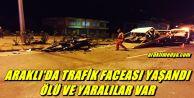 ARAKLI'DA TRAFİK FACEASI !