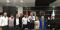 Araklı İşitme Engelliler Derneğinden Başkan Çebi'ye Ziyaret