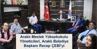 Araklı MYO Yöneticileri, Recep ÇEBİ'yi makamında ziyaret ettiler…