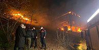 Araklı Taşgeçit Mahallesinde çıkan yangın 6 saatte kontrol altına alındı.