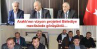 Araklı'nın vizyon projeleri Belediye meclisinde görüşüldü...
