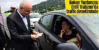 Bakan Yardımcısı Erdil trafik denetiminde